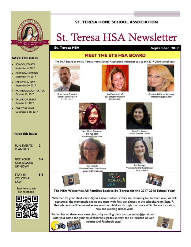 September 2017 STS Newsletter.pub